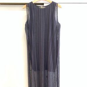 Zara navy long / medi dress size M